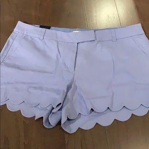 J Crew Scalloped Shorts